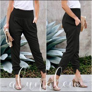 city joggers pants dress up or down Black M, L, …